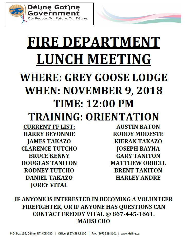 Firefighter Meeting